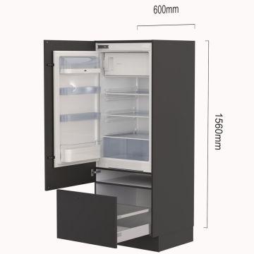 Apparatenkast met koelkast