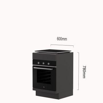 Oven-kookplaat-kast inductie