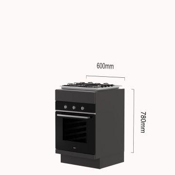 Oven-kookplaat-kast gas