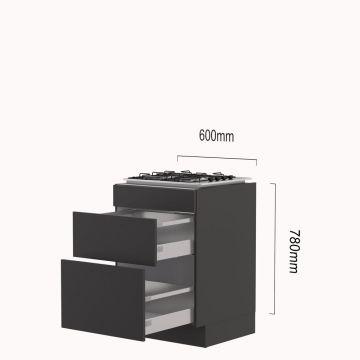 kookplaat-korvenkast 60 cm gas