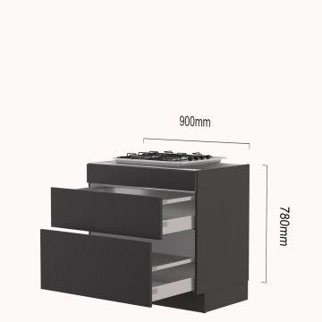 kookplaat-korvenkast 90 cm gas